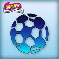 Soccer Ball Pink Power Stencil - Silly Farm Supplies