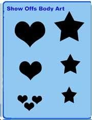 Solid Stars & Hearts QuickEZ Stencil - Silly Farm Supplies