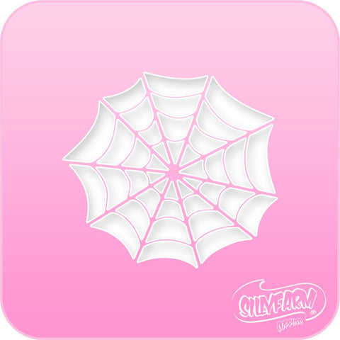 Spider Web Pink Power Stencil