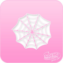 Spider Web Pink Power Stencil - Silly Farm Supplies