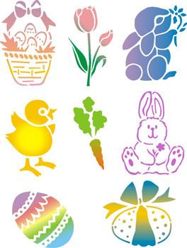 Spring Pack (Easter) Trendy Tribal Stencil Set