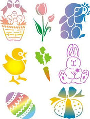 Spring Pack (Easter) Trendy Tribal Stencil Set - Silly Farm Supplies