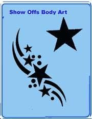 Star Swing QuickEZ Stencil - Silly Farm Supplies