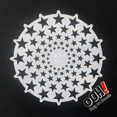 Stars Sphere Airbrush & Face Paint Stencil by Ooh! Body Art (S05) - Silly Farm Supplies