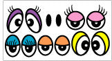 Silly Balloon Eye Stickers