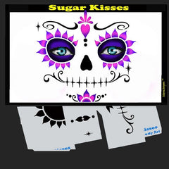 Sugar Kisses Stencil Eyes Stencil - Silly Farm Supplies