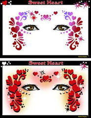 Sweet Heart Stencil Eyes Stencil - Silly Farm Supplies