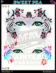 Sweet Pea Stencil Eyes Stencil - Silly Farm Supplies