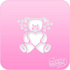 Teddy Bear Pink Power Stencil - Silly Farm Supplies