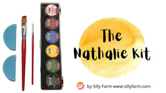 The Nathalie FAB 6 Color Face Paint Kit - Silly Farm Supplies