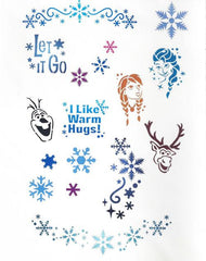 Trendy Tribal Snow (Frozen) Stencil Set - Silly Farm Supplies
