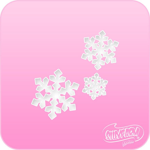 Triple Snowflakes Pink Power Stencil