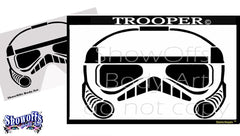 Trooper Stencil Eyes Stencil - Silly Farm Supplies