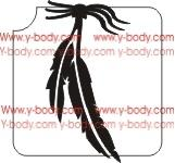 Two Feathers Glitter Tattoo Y-Body Stencil 5 pack - Silly Farm Supplies
