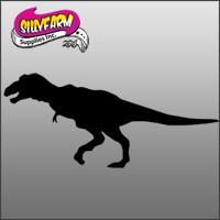 Tyrannosaurus Rex Glitter Tattoo Stencil 10 Pack - Silly Farm Supplies