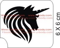 Unicorn Mane Glitter Tattoo Y-Body Stencil 5 pack - Silly Farm Supplies
