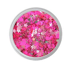 Watermelon Loose Glitter Jar 7.5g by Vivid Glitter- Supports Healing Smiles Foundation - Silly Farm Supplies