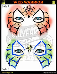 Web Warrior Stencil Eyes Stencil - Silly Farm Supplies