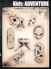 Wiser's Adventure Airbrush Tattoo Pro Stencil- Kids Series - Silly Farm Supplies