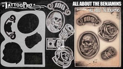 Wiser's All About The Benjamins Airbrush Tattoo Pro Stencil Series 6 - Silly Farm Supplies