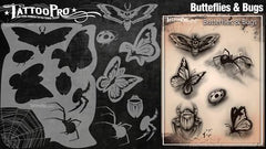 Wiser's Butterflies & Bugs Airbrush Tattoo Pro Stencil Series 2 - Silly Farm Supplies