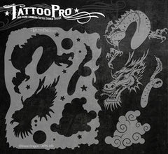 Wiser's Chinese Dragon Tattoo Pro Stencil Series 1 - Silly Farm Supplies