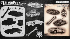 Wiser's Classic Cars Airbrush Tattoo Pro Stencil Series 4 - Silly Farm Supplies