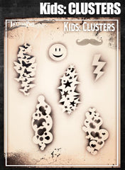 Wiser's Clusters Airbrush Tattoo Pro Stencil- Kids Series - Silly Farm Supplies