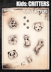 Wiser's Critters Airbrush Tattoo Pro Stencil- Kids Series - Silly Farm Supplies
