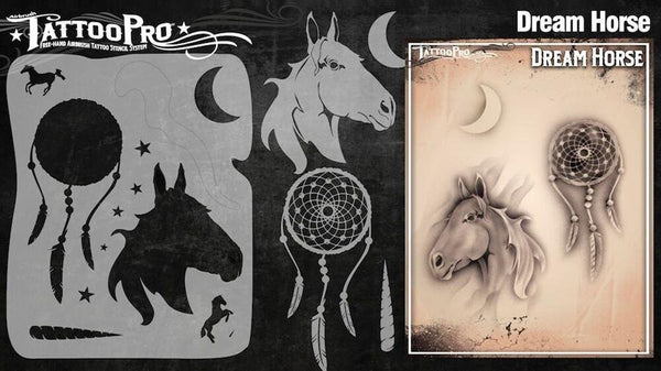 Wiser's Dream Horse Tattoo Pro Stencil Series 3