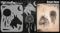 Wiser's Dream Horse Tattoo Pro Stencil Series 3 - Silly Farm Supplies