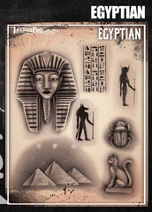 Wiser's Egyptian Airbrush Tattoo Pro Stencil Series 6 - Silly Farm Supplies