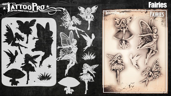 Wiser's Fairies Airbrush Tattoo Pro Stencil Series 5