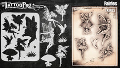 Wiser's Fairies Airbrush Tattoo Pro Stencil Series 5 - Silly Farm Supplies