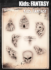 Wiser's Fantasy Airbrush Tattoo Pro Stencil- Kids Series - Silly Farm Supplies