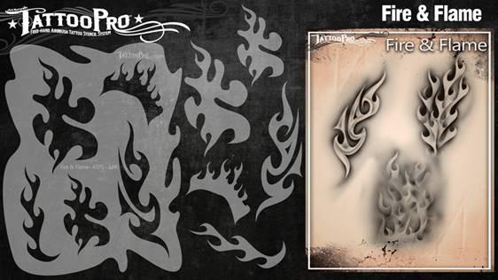 Wiser's Fire & Flame Airbrush Tattoo Pro Stencil Series 2