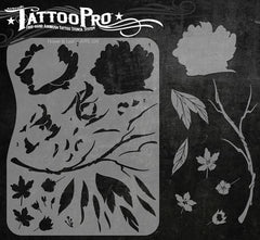 Wiser's Flower & Leaf Tattoo Pro Stencil Series 1 - Silly Farm Supplies