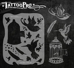 Wiser's Free Birds Tattoo Pro Stencil Series 1 - Silly Farm Supplies