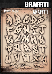 Wiser's Graffiti Airbrush Tattoo Pro Stencil Fonts - Silly Farm Supplies