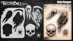 Wiser's Grim Reaper Airbrush Tattoo Pro Stencil Series 5 - Silly Farm Supplies