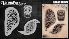 Wiser's Island Tribal Airbrush Tattoo Pro Stencil Series 6 - Silly Farm Supplies