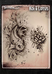 Wiser's Koi & Lotus Tattoo Pro Stencil Series 1 - Silly Farm Supplies