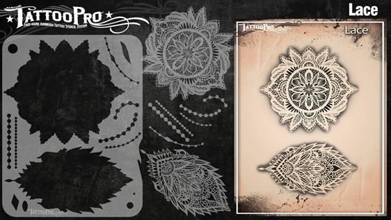 Wiser's Lace Airbrush Tattoo Pro Stencil Series 2