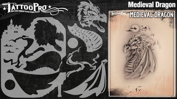 Wiser's Medieval Dragon Tattoo Pro Stencil Series 3