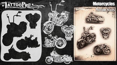 Wiser's Motorcycles Airbrush Tattoo Pro Stencil Series 4 - Silly Farm Supplies