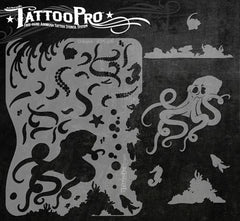 Wiser's Octopus Tattoo Pro Stencil Series 1 - Silly Farm Supplies