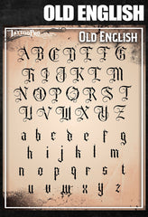 Wiser's Old English Airbrush Tattoo Pro Stencil Fonts - Silly Farm Supplies