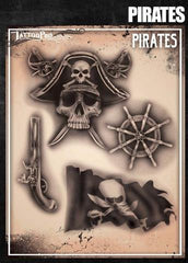 Wiser's Pirates Airbrush Tattoo Pro Stencil Series 6 - Silly Farm Supplies