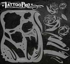 Wiser's Roses & Scrolls Tattoo Pro Stencil Series 1 - Silly Farm Supplies
