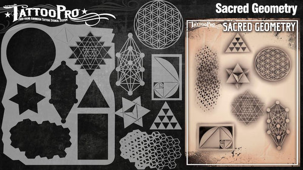 Wiser's Sacred Geometry Tattoo Pro Stencil Series 3
